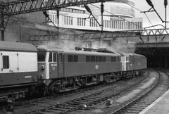 Class 56 56056 on drags at Birmingham New Street  1981 (flashbangmilly) Tags: 56056 86315 nuneaton euston drags nst sunday