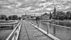 Bridge in Wroclaw (rainerpetersen657) Tags: wroclaw breslau poland polska polen river water city blackandwhite blancoynegro bw sony sonyalpha bridge brücke oder odra zeissbatis