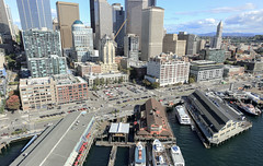 Seattle waterfront aerial: University to Columbia (WSDOT) Tags: aerials seattle gp construction wsdot alaskan way viaduct replacement waterfront demolition 2019
