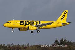 A320 N697NK SPIRIT (shanairpic) Tags: jetairliner passengerjet a320 airbusa320 shannon spirit n697nk