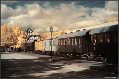 2019 10 07 Röhn IR - 22 b (Mister-Mastro) Tags: fladung train eisenbahn zug museum schiene herbst ir infrared 680nm