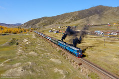 2M62MM-058 UBTZ, Tunkh - Shatang (Mongolia) (Martin Válek) Tags: rail railway railroad train locomotive zug eisenbahn vlak železnice mongolsko mongolei transmongolianrailway ulaanbaatarrailway