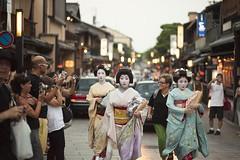 (Andrea Bernesco) Tags: gion kyoto street japan maiko geiko geisha walking japanesegirl andreabernesco kimono traditional traditionalworkers traditionaldress