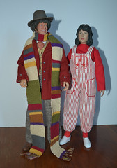 Doctor Who and Sarah (trev2005) Tags: doctor who fourth action figure chief tom baker elisabeth sladen sarah jane smith big doll