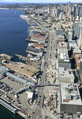 Aerial view of Seattle's waterfront after viaduct demolition (WSDOT) Tags: aerials seattle gp construction wsdot alaskan way viaduct replacement waterfront demolition 2019