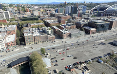 Aerial view of Pioneer Square after demolition (WSDOT) Tags: aerials seattle gp construction wsdot alaskan way viaduct replacement waterfront demolition 2019