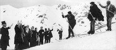 A demonstration of skiing, 1891-style