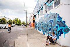 (Metro Transportation Planning and Development) Tags: metro design sharrow bike art mural sidewalk sitting skateboard ne 21st