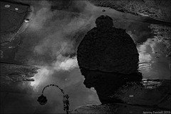 Brooding Charisma (zolaczakl) Tags: bath bathinmonochrome reflections puddle walcotst 2019 fujix100f upsidedown england uk photographybyjeremyfennell jeremyfennellphotography lightshadow mono monochrome blackandwhite bw sky october