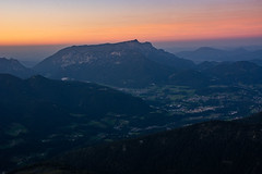 Salzburger Hochthron (Justus Sprott) Tags: mountain alps sunset color waves stone peak landscape valley memories aquarell beauty nature rocks rock watzmann salzburg evening couldbeapainting