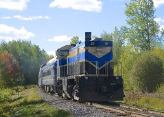 MP 74 (Michael Berry Railfan) Tags: oexx26 orfordexpress sherbrooke train passengertrain cmq centralmaineandquebecrailway sherbrookesub mlw montreallocomotiveworks m420tr