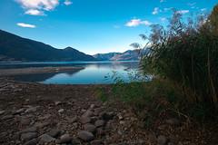 low water level (andre.kirtz) Tags: morgendämmerung seelandschaft seeufer herbst tessin see oktober natur wasser ascona lagomaggiore schweiz morgengrauen morgenstimmung