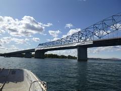 Blue Bridge wrapped (WSDOT) Tags: us395 bridge bridgepainting tricities columbiariver wsdot pioneermemorialbridge pasco kennewick jr