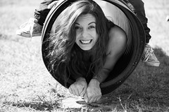 Kylee Jo (Alice_McCAnn) Tags: portrait blackandwhite smile lady play documentary tulsa tulsaoklahoma pumpkintown family fall oklahoma childhood fun outside outdoors moments child candid familytime