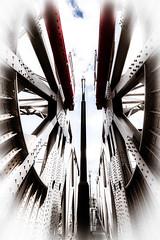 Around and around (vale0065) Tags: bridge brug antwerpen antwerp houtdok scheldt schelde harbor port haven construction constructie metal metaal curves curven lines lijnen belgium belgië mexicobruggen mexicobridges roll bascule bridges williamdonaldscherzer rolbasculebrug scherzer