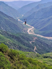 Flying (magnetic_red) Tags: canyon river mountain zipline extreme green travel colombia chicamochacanyon
