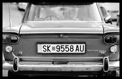 vintage auto (Michael Kommarov) Tags: nikon f3 voigtlander 58mm ilford xp2 film analog 35mm black white lomography high contrast macedonia ohrid lake lomo