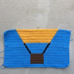 The fourth and final crochet panel (crochetbug13) Tags: crochet crocheted crocheting crochetpanel crochetyarnbomb crochethotairballoon