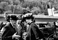 Mr G Michel of the Bernese Oberland Tourist Office with Sir Paul & Lady Gore-Booth