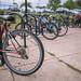 Row of Bikes Outside of Metro