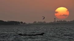Barra Grande - Sunset (sileneandrade10) Tags: sileneandrade bgk kitesurf barragrande sunset pôrdosol kitesurfzone pousadabgk desfoque nikoncoolpixp1000 nikoncorporationcoolpixp1000 nikon viagem turismo esporte ação
