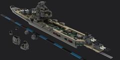 mogera_wip (Cagerrin) Tags: lego ship warship cruiser heavycruiser mogami takao wip ldd legodigitaldesigner 3d