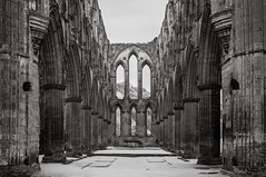 (Rodney Harvey) Tags: rievaulx abbey england ruin infrared bw architecture ancient arch