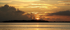 Ft DeSoto Sunset 2019-10-08 Panorama (dbadair) Tags: sunset de soto outdoor seaside dennis adair shore sea sky water nature wildlife 7dm2 7d ii ef100400mm ocean canon florida
