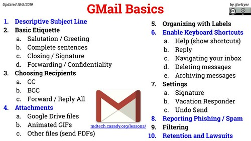 GMail Basics - 10 Concepts and Skills by Wesley Fryer, on Flickr