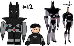 Lego Batman Beyond Minifigure Series (Jacob Customs) Tags: lego batman beyond minifigure collectable series spellbinder shriek mr freeze 2d man freon bruce wayne joker kobra ghoul