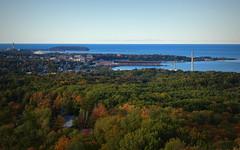 Marquette, Michigan  -- Explored (yooperann) Tags: marquette upper peninsula michigan fall autumn lighthouse presque isle yooper superior dome lakesuperior sunny day