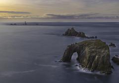 Cornish sunset at Land's End (Julien Bihan) Tags: cornish sunset lands end sea light long exposure longue exposition seascape landscape paysage cornwall