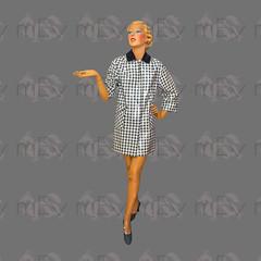 1960s Mod Black and White Monochrome Plaid Check Rain Mac (Rickenbackerglory.) Tags: vintage 1960s siegel mannequin mod blackandwhite monochrome plaid check rainmac raincoat