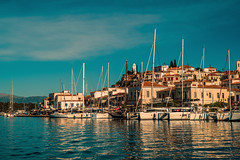 Island quayside.... (Dafydd Penguin) Tags: mediterranean sea water aegean saronic gulf greece poros island yacht yachting sailboat sailing sail boat harbour harbor port dock harbourside waterside quay leica m10 50mm summicron f2 asph