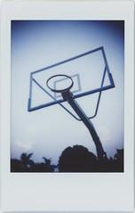 * (breeze.kaze) Tags: instantfilm fujiinstaxminifilm mintinstantflextl70 evening dusk sky basketballstand