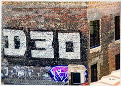 Exit at D30 (swanksalot) Tags: tweeted d30 streetart graffiti brick wall southloop chicago
