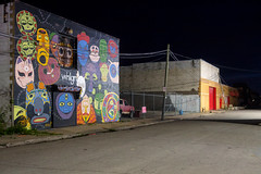 PA060948 (elsuperbob) Tags: detroit michigan easternmarket emptyspaces emptystreets nightscenes murals muralsinthemarket streetart