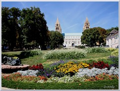 Hungary - Pécs - St. Stephen's Square and the Cathedral of St. Peter and St. Paul (ottilia dozsa) Tags: hungary magyarorszag pecs square ter flower virag park ycaba church templom stpeter stpaul sztpeter sztpal xoopa explore nm