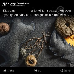 #Language #Consultants play a central role in #BringingTheWorldToYourDoorstep so you can #exchange #ideas, #learn, #think, #create and do #business more easily in #English. #TheArtOfSpeaking #HalloweenCrafts (The English Verb) Tags: language consultants bringingtheworldtoyourdoorstep exchange ideas learn think create business english theartofspeaking halloweencrafts