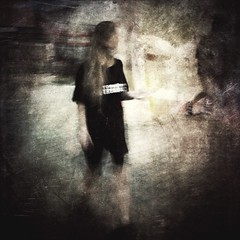 """untitled (ChrisRSouthland (mostly off, traveling & working)) Tags: textures ricohgriii colour color movement person figur icm """"motionblur"""" blurred """"streetphotography"""" street tokyo"""