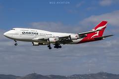 Boeing 747-438ER VH-OEE Qantas (msd_aviation) Tags: boeing boeing747 b747 b744 b747400 qantas australia barcelona barcelonaairport lebl bcn landing queenofskies queenoftheskies aviation spotting spotters planespotting