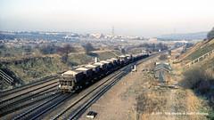 09/12/1987 - Treeton Junction, Sheffield, South Yorkshire. (53A Models) Tags: britishrail brush type4 class47 diesel ballast treetonjunction catcliffe sheffield southyorkshire train railway locomotive railroad