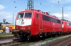 111 116  Dortmund  25.06.97 (w. + h. brutzer) Tags: dortmund 111 eisenbahn eisenbahnen train trains deutschland germany elok eloks railway lokomotive locomotive zug db webru analog nikon albumhubertboob