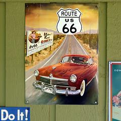 Atlanta, Illinois, USA (pom'.) Tags: panasonicdmctz101 atlanta illinois usa route66 sign car vintagecar diner doit motherroad hudsoncommodore 1948 hudson commodore hudsonmotorcarcompany