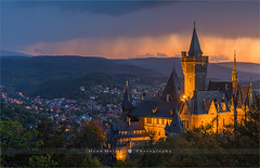 Wernigerode Castle - Germany (~ Floydian ~) Tags: henkmeijer photography floydian wernigerodecastle harz wernigerode castle schlosswernigerode germany german historic historical history romanesquestyle illuminated forest town village harzmountains saxonyanhalt saxen sunset evening dusk twilight bluehour leefilters canon canon5dmarkiv