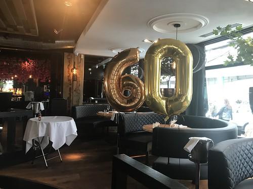 Folieballon Cijfer 60 Oysterclub Rotterdam