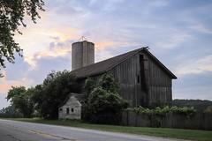 barn #2 (Yuki (8-ballmabelleamie)) Tags: barn silo storage road highway dawn morning rural countryside kenoshacounty woodensiding building