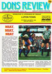 Wimbledon vs Luton Town - 1988 - Cover Page (The Sky Strikers) Tags: wimbledon luton town dons review barclays league division one official matchday magazine pound plough lane