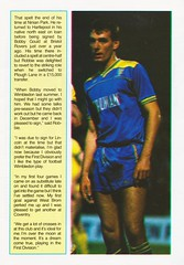 Wimbledon vs Luton Town - 1988 - Page 5 (The Sky Strikers) Tags: wimbledon luton town dons review barclays league division one official matchday magazine pound plough lane