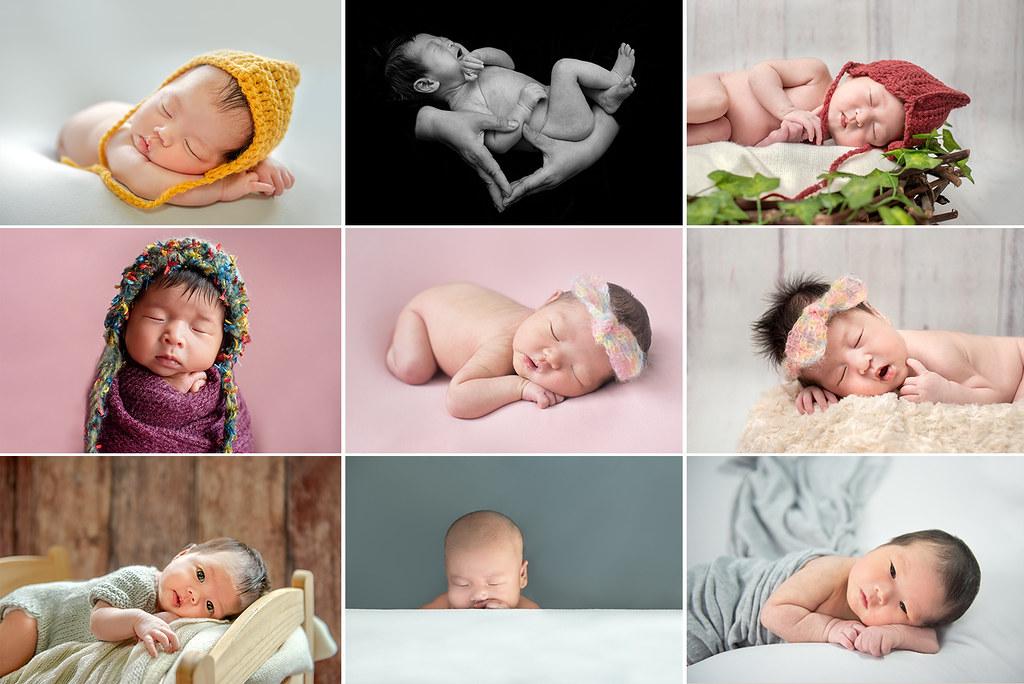 新生兒9張方格合照